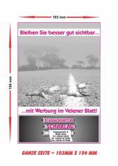 Anzeige im Velener Blatt -