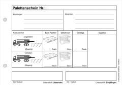 Blocks Palettenschein - Lademittelnachweis 2-fach-SD -