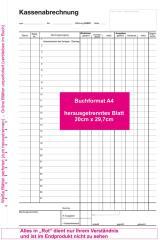 Kassenbuch DIN A4 2-fach - SD -