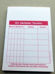 Terminzettel 1 - rot - DIN A7 - 50 Blatt -